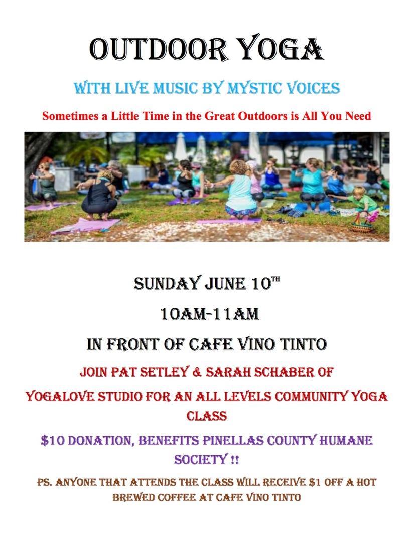 Outdoor yoga June 10