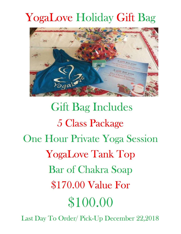 YogaLove Holiday Gift Bag